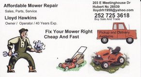 FiX Your Mower Right,Cheap,Fast in Camp Lejeune, North Carolina