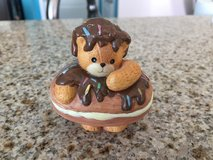 Reduced: Lucy & Me Enseco Teddy Bear Figurine Doughnut in Joliet, Illinois