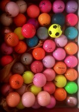 20 beautiful color golf balls mint condition in Aurora, Illinois