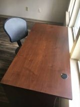 *MUST SELL* Gently Used Wooden Desk and Armless Desk Chair in Wilmington, North Carolina