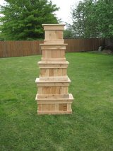 Cedar Patio Box Planter Veggies Herbs Deck Pots in Plainfield, Illinois