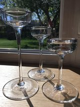 Set of 3 Tall Glass Candle Holders in Aurora, Illinois