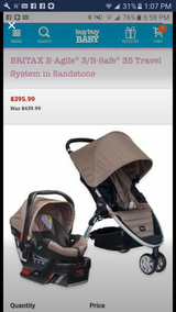 New britax b agile stroller car seat travel system in Joliet, Illinois