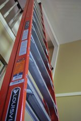 Louisville Ladder FXP1712 Fiberglass Pro Extended Rail ProTop Platform Ladder, 12-Feet in Beaufort, South Carolina