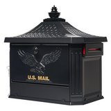 Gibraltar Mailboxes Hamilton Black Locking Aluminum Large Post-Mount Mailbox in Glendale Heights, Illinois