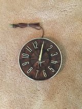 1950's electric wall clock in Plainfield, Illinois