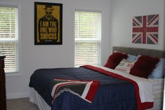 King Bed and Tufted Headboard in Fort Bragg, North Carolina