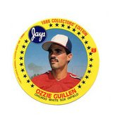 1986 White Sox Ozzie Guillan Collectors Circle Card from Jays Potato Chip in Palatine, Illinois