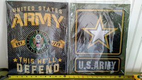 Army Metal Signs 12 1/2 x 15 New in 29 Palms, California