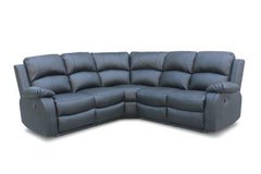 NEW -- Bonbon Recliner Sectional in Black bonded leather including delivery in Spangdahlem, Germany