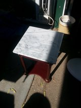 tiny marble top table in Fort Riley, Kansas