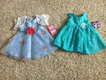 Toddler girl dresses brand new sizes are 12 m and 18 m in Naperville, Illinois