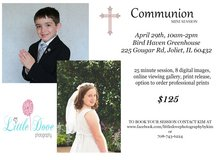 Communion Mini Sessions in Naperville, Illinois
