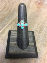 Stering Silver / Turquoise / Carnelian Ring (sz6) in Camp Lejeune, North Carolina
