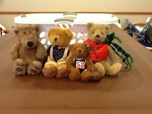 4 collectible bears in Oswego, Illinois
