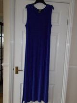 Dress size Large by Nina Charles Blue Long sleeveless stretch in Lakenheath, UK