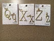 Letter Charms in St. Charles, Illinois