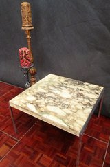 Marble Top Table with Chrome Legs in Ramstein, Germany