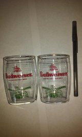 "Budweiser pair of Beer Glasses 3""H x 2""W in St. Charles, Illinois"