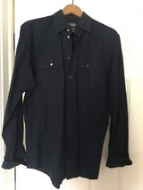 Navy button up 16 1/2 34-35 in Chicago, Illinois