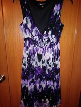 Purple print dress in The Woodlands, Texas