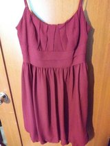 Burgundy dress in The Woodlands, Texas