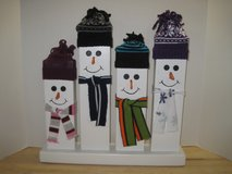 Handmade 2 x 4 snowman family in Camp Lejeune, North Carolina