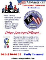 Call All American Pros for your renovation, painting, flooring, restoration needs! in Wilmington, North Carolina