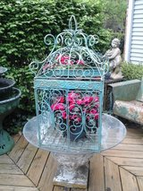 Vintage large scrolly iron bird cage in St. Charles, Illinois