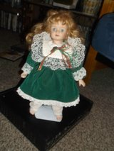 pretty blonde blue eyed proclein doll with stand in Alamogordo, New Mexico