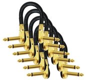 6 Pack Mogami Gold Instrument Effects Patch Cables in Camp Lejeune, North Carolina