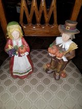 New / Wood / 2 Piece Pilgrim Figurine Set in Fort Campbell, Kentucky