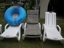 poolside lounge chairs,also outdoor cushions different sizes in Beaufort, South Carolina