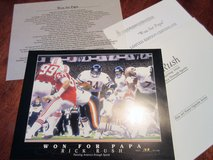Chicago Bears Won For Papa Super Bowl XX NFL Limited Edition COA Print Numbered Art in Kingwood, Texas