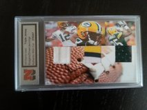 Aaron Rodgers Donald Driver & Greg Jennings Game Used Triple Jersey card with NSA Authentic Cert... in Ramstein, Germany