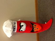 Rock n Hot pepper stuffed toy about 3 ft tall in Lockport, Illinois