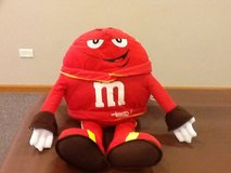 Red M&M suffed toy in Oswego, Illinois