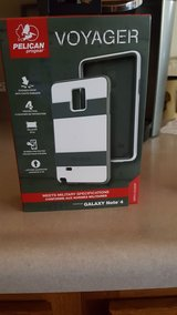PELICAN SAMSUNG NOTE 4 CELL PHONE CASE WHITE/GRAY in Fort Knox, Kentucky