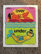 "Vintage Playskool ""Sesame Streer: Over and Under"" Wood Tray Puzzle in Camp Lejeune, North Carolina"