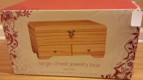 New!  Large Chest Jewelry Box - Oak Finish in Naperville, Illinois