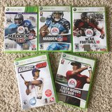 Sports Bundle 5 games-XBOX 360 in Bolingbrook, Illinois