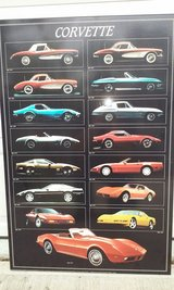 "Corvette History Poster 1957 - 1994 24"" x 36"" in Elgin, Illinois"