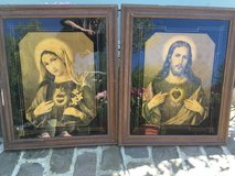 2 wonderful antique pictures Jesus and Marie in Ramstein, Germany