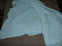 "LARGE Custom Home-Made Baby Blanket 51"" X 51"" Teal / Speckled in Kingwood, Texas"