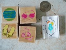 5 beach rubber stamps in Stuttgart, GE
