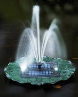 Solar Floating Lily Fountain, LED Light & Remote Control in Ramstein, Germany