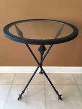Wrought Iron Glass Side Accent Table in Naperville, Illinois