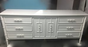 Dresser / faux bamboo / white /bedroom pieces also avaiiable in Naperville, Illinois