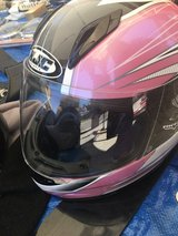 HJC pink motorcycle helmet size M youth in Travis AFB, California