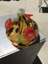 Art glass Hummingbird feeder in Yucca Valley, California
